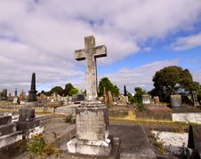 Free Cemetery With Cross Stock Photo - 8698090