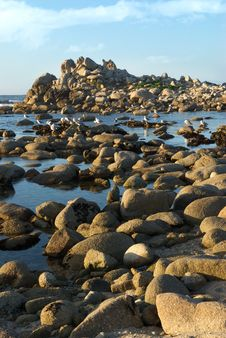 Free Rock Covered Island And Beach Stock Image - 8698191