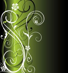 Dark Green Floral Background Royalty Free Stock Photos