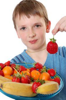Free Fruit Boy Stock Photography - 8698692