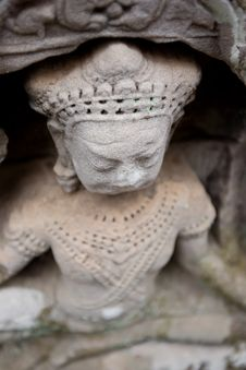 Free Carving At Angkor Royalty Free Stock Photos - 8698918