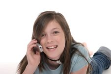 Young Teen Girl Talking On Cellphone 10 Royalty Free Stock Photos