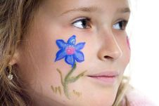 Free Pretty Girl With Flower Butterfly Make-up Royalty Free Stock Photo - 871645