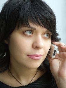 Free Girl Speaks On Telephone Royalty Free Stock Photos - 873318