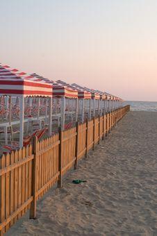 Free Tuscanian Beach, Lido Di Camaiore Stock Photography - 873982