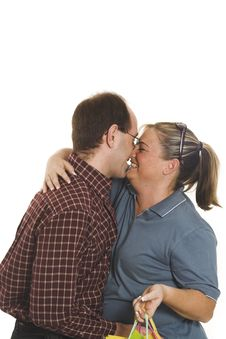 Free Couple Kissing Stock Photography - 874272