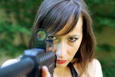 Free Girl Aiming Stock Photos - 874623