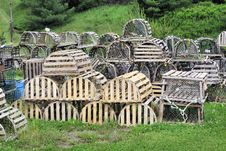 Free Lobster Traps Royalty Free Stock Photo - 874835