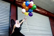 Free Fairy With Balloons Royalty Free Stock Image - 876736