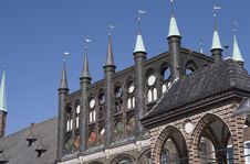 City Hall Luebeck Royalty Free Stock Image