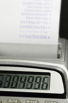 Free Paper Roll Of A Desk-top Calculator 02 Royalty Free Stock Photo - 877525