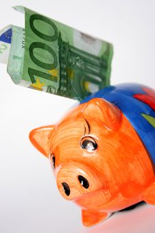 Free Hundred Euro And Piggy Royalty Free Stock Photo - 878075