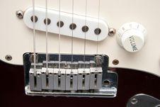 Free Bridge Electric Guitar Royalty Free Stock Photo - 879175