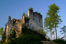 Free Enchanted, Overgrown Castle In The Morning Sun Stock Photos - 879793
