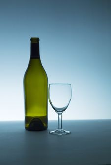 Bottle And Glass I Royalty Free Stock Photos
