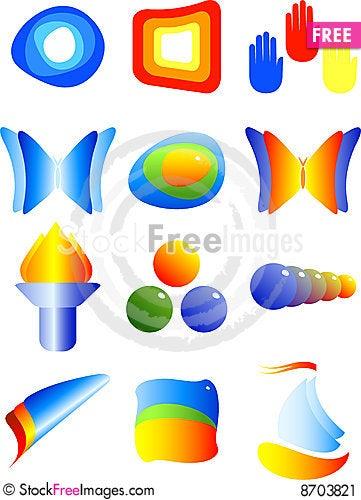 Abstract vector symbols Stock Photo