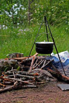 Free Dixie. Campfire. Royalty Free Stock Photo - 8700245