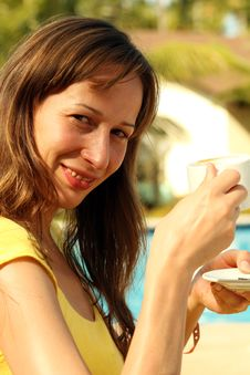 Free Breakfast Cup Coffee Royalty Free Stock Photos - 8700858