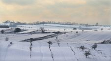 Winter Hills - Romanian Countryside Royalty Free Stock Images