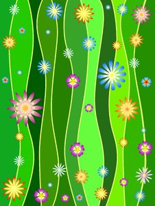Free Spring In Green Stock Image - 8701801