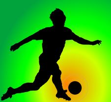 Free Player With A Ball. Stock Image - 8701971
