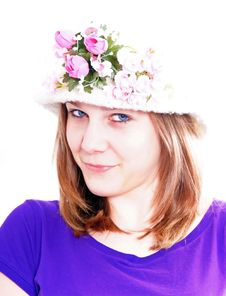 Free Woman With Hat Stock Photo - 8702320