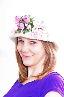 Free Woman With Hat Royalty Free Stock Photos - 8702378
