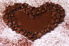 Free Coffee Heart 2 Stock Photography - 8702802