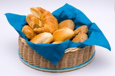 Free A Basket With Different Buns Stock Image - 8703011