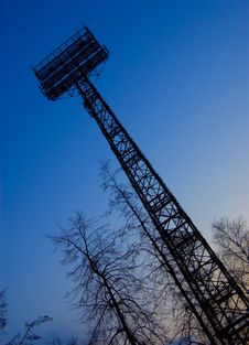 Free Lighting Tower Stadium Stock Image - 8703081