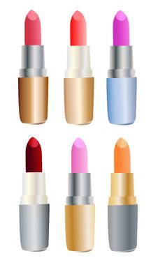 Free Set Of Colored Lipsticks Stock Images - 8703374