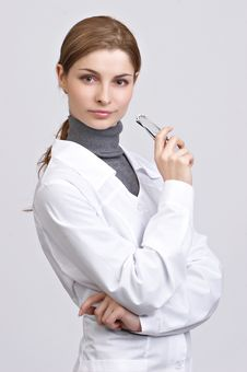 Free Young Beautiful Doctor Royalty Free Stock Image - 8703536