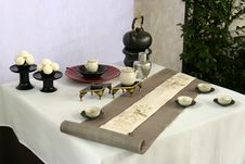 Table Design In Japan Stock Photos