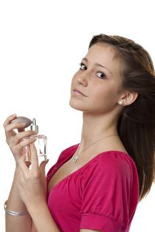 Free Teenager With Perfume Royalty Free Stock Photos - 8704408