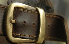 Free Leather Belt Clasp Royalty Free Stock Photos - 8705238