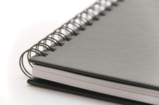 Free Black Spiral Notebook On White Background Stock Photography - 8706562