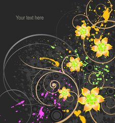 Free Abstract Floral Background With Place For Text Stock Image - 8706621