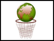 Free Globe With Basket Royalty Free Stock Photos - 8707398