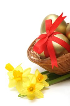 Free Golden Easter Royalty Free Stock Image - 8707806