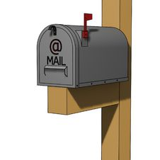 Classic American Mailbox Royalty Free Stock Photography
