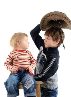 Free Two Little Boys (brothers) Royalty Free Stock Image - 8710886