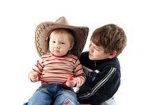 Free Two Little Boys (brothers) Royalty Free Stock Photography - 8710907
