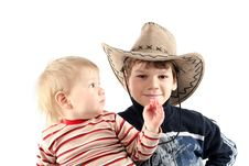 Free Two Little Boys (brothers) Stock Photos - 8710943