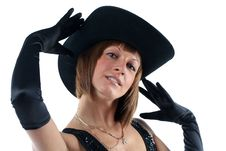 Free Lovely Yong Woman In Hat Royalty Free Stock Photo - 8711655