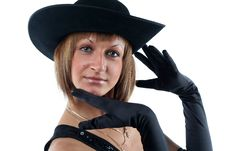 Free Lovely Yong Woman In Hat Royalty Free Stock Image - 8711676