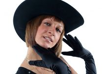 Free Lovely Yong Woman In Hat Royalty Free Stock Images - 8711689