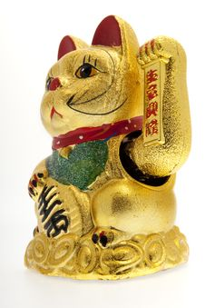Free Lucky Golden Cat Stock Photo - 8712030