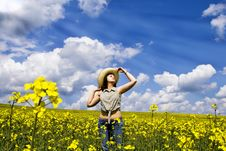 Free Young Woman Enjoying Spring Stock Photo - 8712110