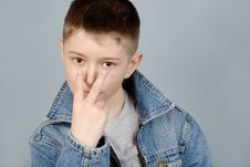 Free Gesticulating Boy Stock Photo - 8712480