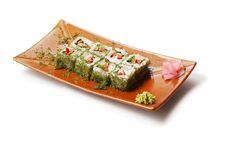 Free Rolls With Dill, Tuna And Tofu Stock Photo - 8713570